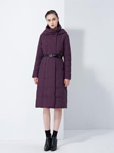 TAHAN女装秋冬新款宽松中长款保暖羽绒外套