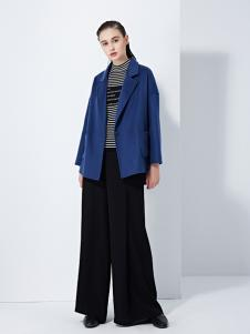TAHAN女装秋冬新款小香风粗花呢短款小外套宽松长袖小外衣