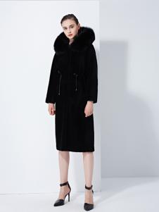 TAHAN女装秋冬新款宽松中长款保暖呢子外套