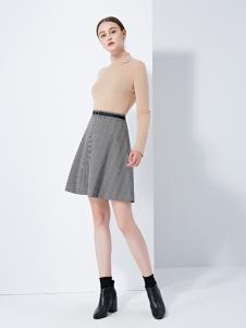 TAHAN女装秋冬新款A字裙一步裙一字裙包臀裙