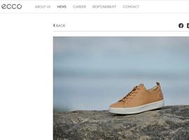 鞋履品牌Ecco推新型环保鞣革技术 一张牛皮可节约20L水