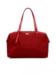 欧雅红色休闲手提包