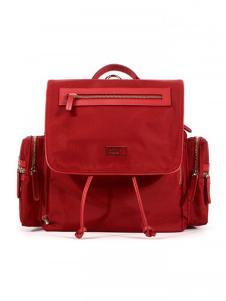 欧雅红色时尚背包
