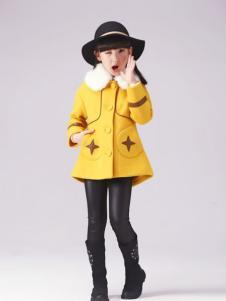 半橡皮童装黄色休闲外套