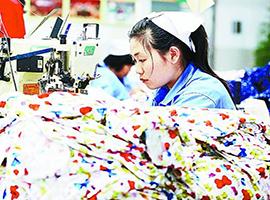 1~8月我国纺织品服装出口累计增长3.7%