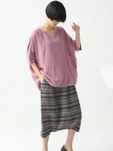 巴古利女装粉色时尚T恤