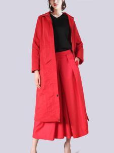 2018零時尚女裝紅色外套