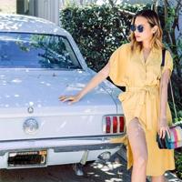 秋天穿黄色要多美有多美,莎斯莱思时尚女装太好搭配了!