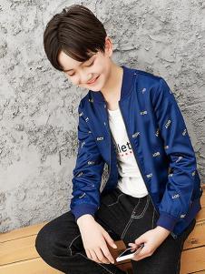 劳伦王子童装蓝色时尚外套