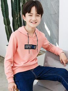 劳伦王子童装粉色休闲T恤