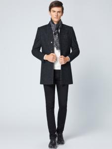 2018VERSINO梵思诺黑色时尚大衣