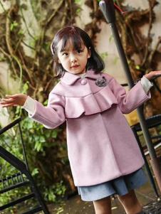 淘淘兔童装粉色时尚外套