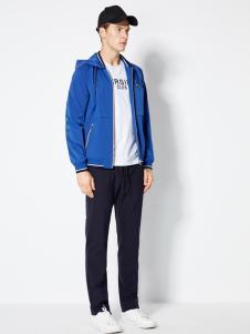 2018梵思诺男装蓝色夹克