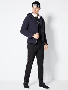 2018梵思诺男装黑色外套