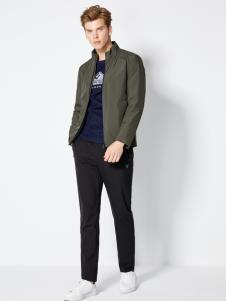 2018梵思诺男装绿色夹克