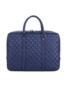 帅派箱包宝蓝编织手提包