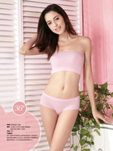 纯色女人内衣粉色蕾丝抹胸套装