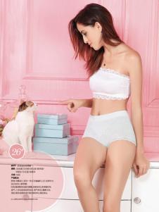 纯色女人内衣白色抹胸套装