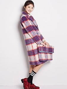 Aline de Rose女装格子时尚大衣