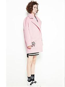 Aline de Rose女装粉色休闲大衣