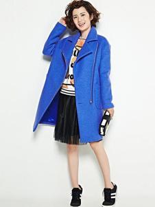 Aline de Rose女装蓝色时尚大衣