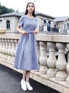 她之曲女装时尚文艺连衣裙