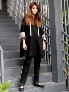 2018ZOLLE因为女装黑色休闲套装