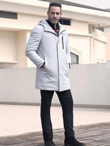 2018富绅男装白色休闲外套