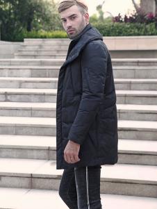 2018富绅男装黑色羽绒服