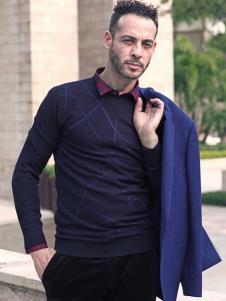 2018富绅男装翻领毛衫