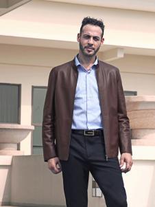 2018富绅男装皮夹克