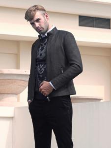2018富绅男装黑色夹克