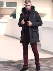 2018富绅男装黑色外套
