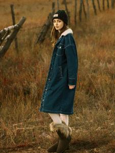 2018夺宝奇兵女装长款牛仔外套