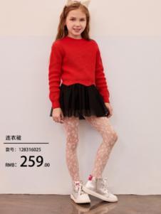 2018小猪班纳女童红色毛衣