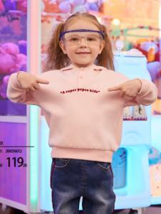 2018小猪班纳女童粉色上衣
