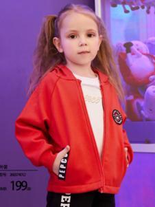 2018小猪班纳女童红色外套