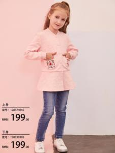 2018小猪班纳女童粉色卫衣