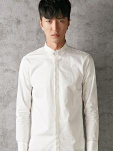 江南传奇男装白色商务衬衫