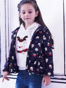 2018杰米熊女童印花外套