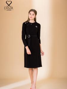 迪丝爱尔18新款黑色连衣裙
