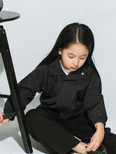 ENHENN童装黑色休闲外套