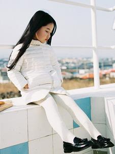 ENHENN童装白色时尚棉衣