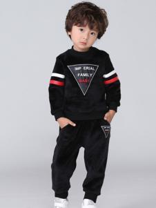 皇室baby童装黑色时尚套装