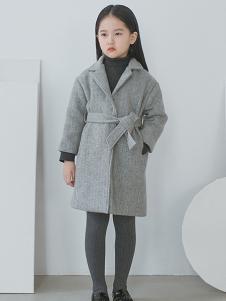 ENHENN童装灰色系带外套