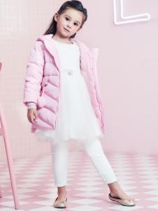 2018杰米熊童装粉色羽绒服