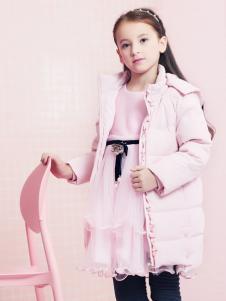 2018杰米熊女童粉色羽绒服