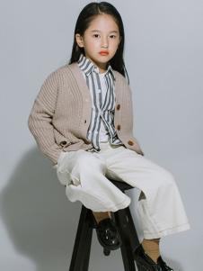 ENHENN童装杏色休闲针织衫