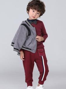 皇室baby童装灰色时尚外套