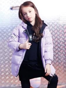 2018杰米熊女童紫色羽绒服